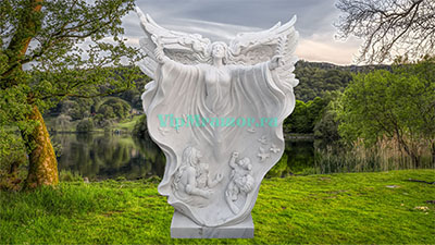 Скульптура ангела из мрамора