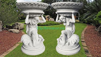 Вазоны скульптурные из мрамора