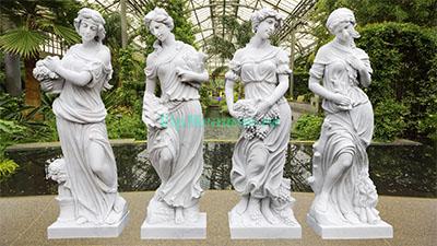 Скульптуры 4 сезона из мрамора